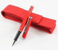 Jin Hao Luxury Red Silver Clip Roller Ball Pen With Shiny Stationery School Office Writing Brand