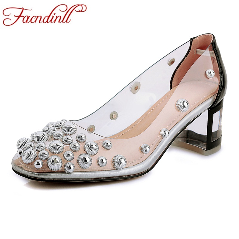 FACNDINLL brand 2019 new fashion spring summer high heels sexy shoes genuine leather women dress party wedding shoes woman pumps