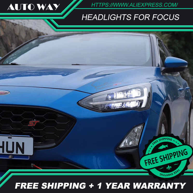 Car Styling for Ford Focus Headlights 2019 New Focus 5 LED Headlight Dynamic Signal Led Drl Hid Bi Xenon Auto Accessories