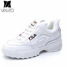 VIXLEO 2018 Disruptor II 2 Women causal shoes Light white black Thick bottom increased womenn Low Outdoor shoes szie 35-40