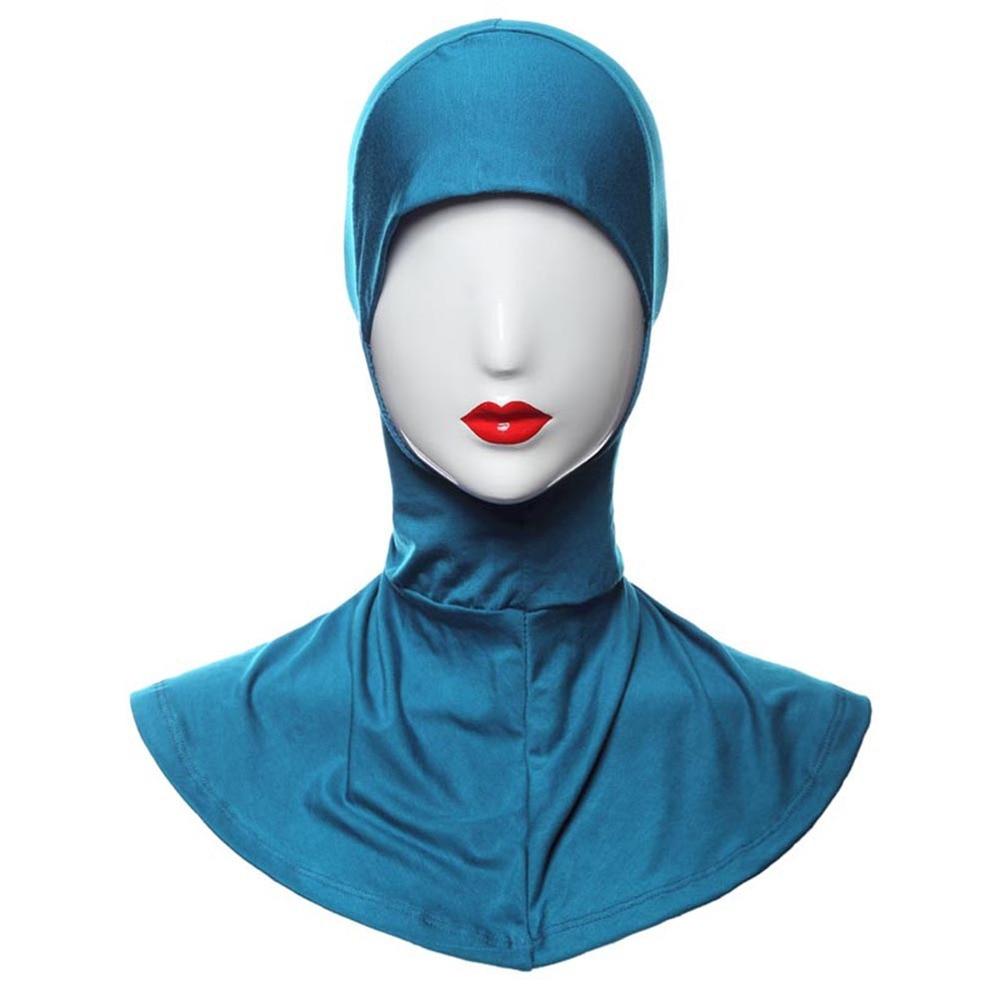 20 Color Women Hijab Islamic Band Neck Cover Head Wear Under Scarf Hat Cap Bone Bonnet