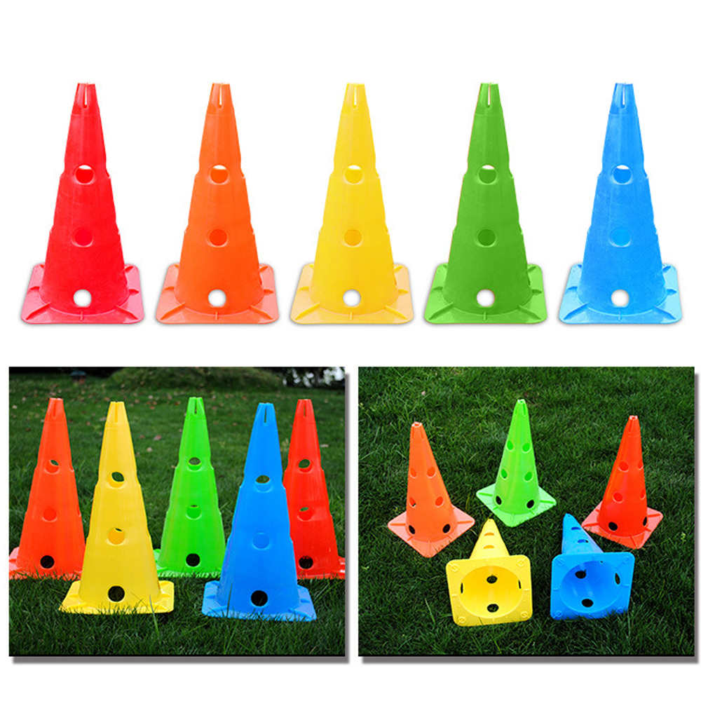 5 Pcs/lot Durable Sports Cones Skating Football Training Workout Marker And Disc Holder For Kids Field Activity