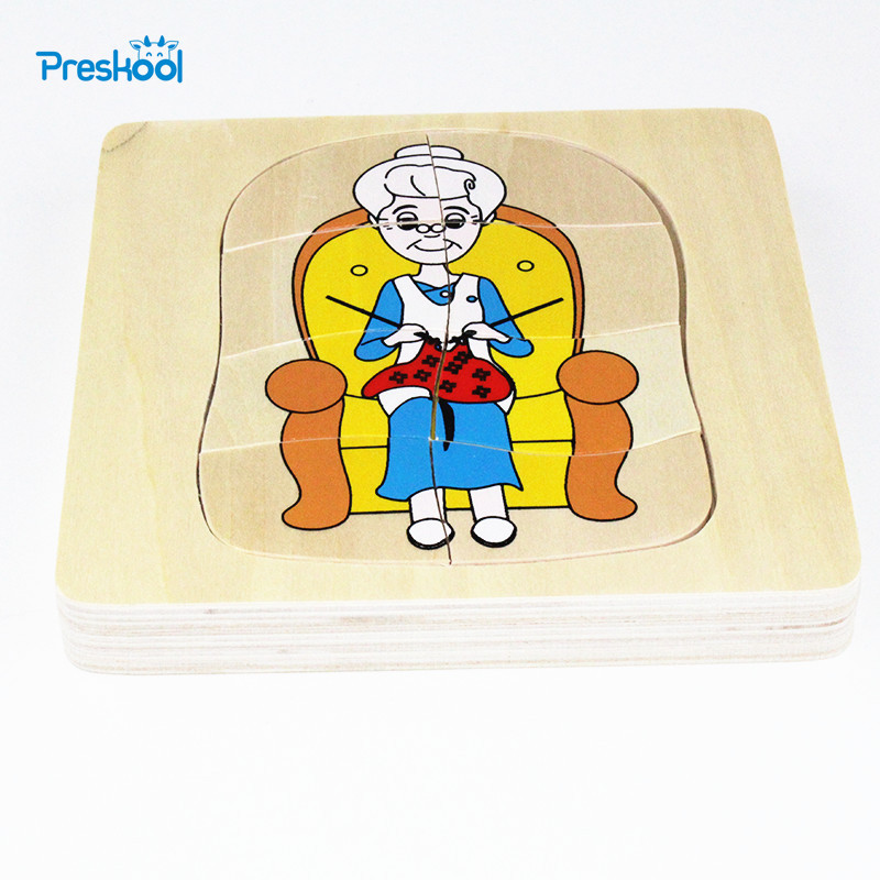Montessori Kids Baby Toy Infant Toddler Life Cycle Of Woman Puzzles Jingsaw Preschool Brinquedos Juguets
