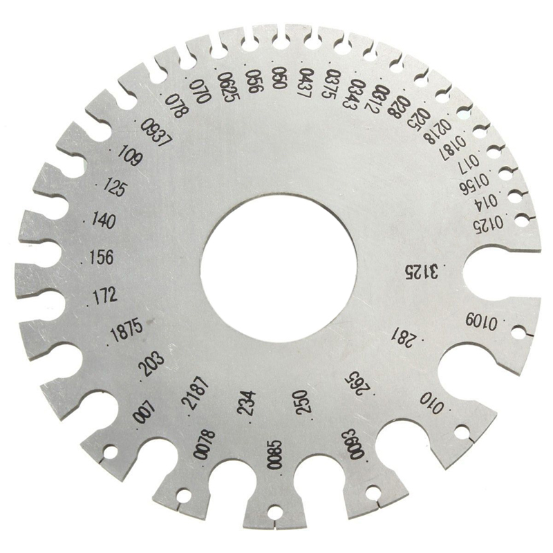 Stainless steel wire gauge tool 0 36 round awg swg thickness ruler 1 pc perak bulat awg swg ketebalan kawat penguasa ukuran 84 cm diameter stainless steel untuk keyboard keysfo Image collections