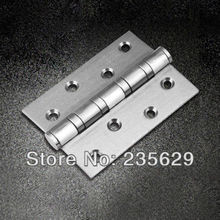 De, 304 aço inoxidável dobradiças para portas de madeira / Metal porta, 3 mm de espessura, Fácil instalação, Dobradiças ruído