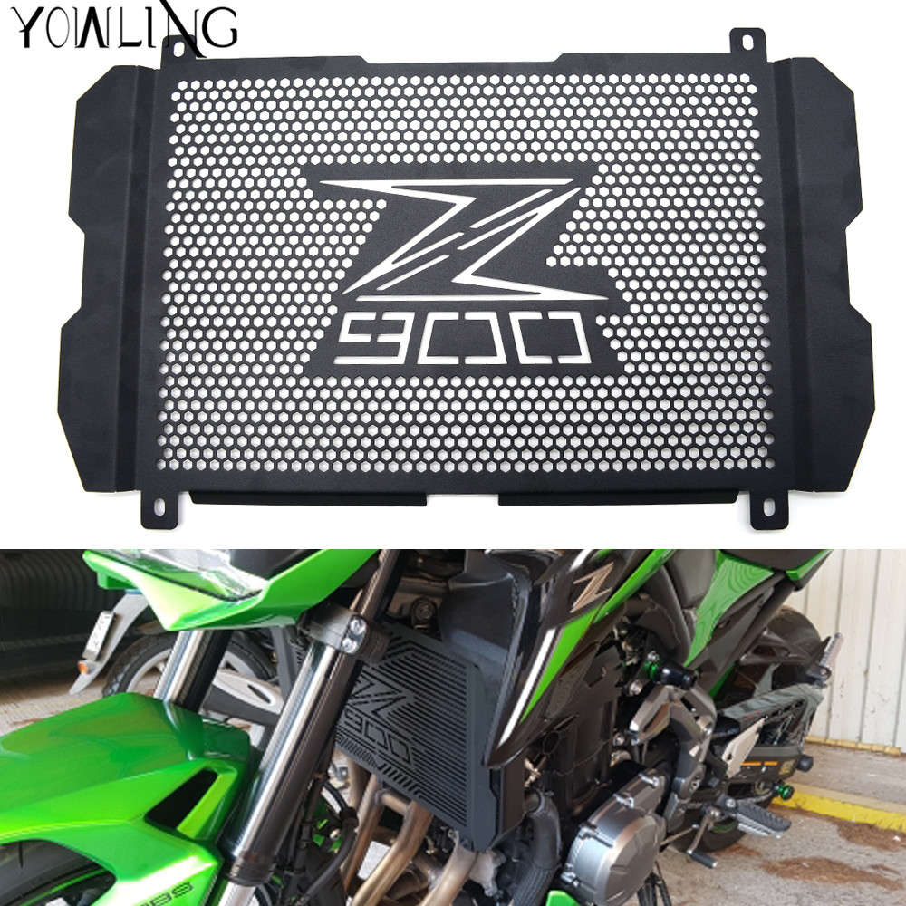 YOWLING For Kawasaki Z900 2017 Motorcycle Radiator Grille Guard Z900 Radiator Grille Cover Protector Stainless Steel Z 900 for kawasaki z900 2017 motorcycle radiator guard gloss stainless steel grille bezel radiator net protective cover