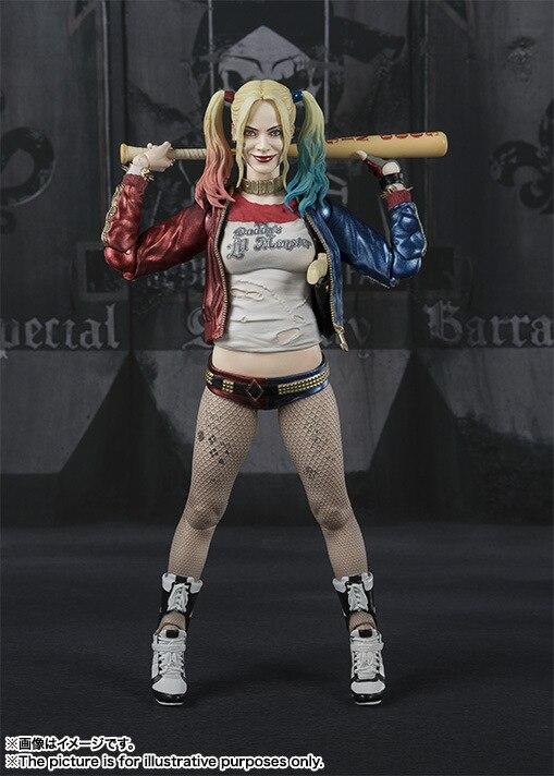 лучшая цена DC Hero Harley Quinn Action Figures SHF Suicide Squad BJD Model Toys 15cm