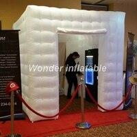 3x3x3 м led Надувные photo booth фонов надувные photo booth палатка с 2 дверями для свадьбы