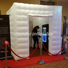 3x3x3m led inflatable photo booth backdrops inflatable photo booth tent with 2 doors for wedding