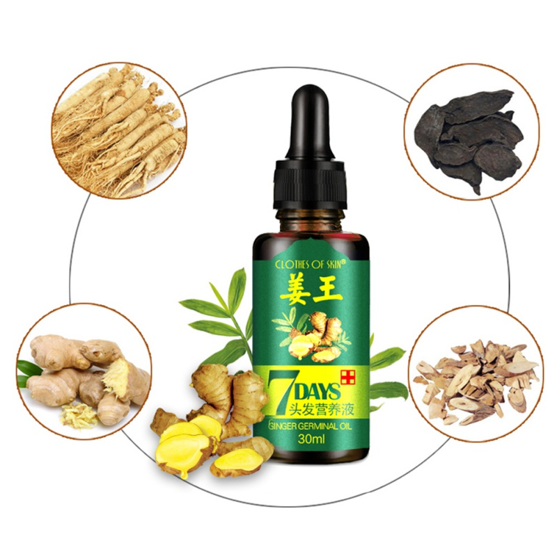 7 Days Ginger Essence Hair Essential Oils Hairdressing Hairs Mask Essential Oil Dry Damaged Nutrition Hair Care Products 2