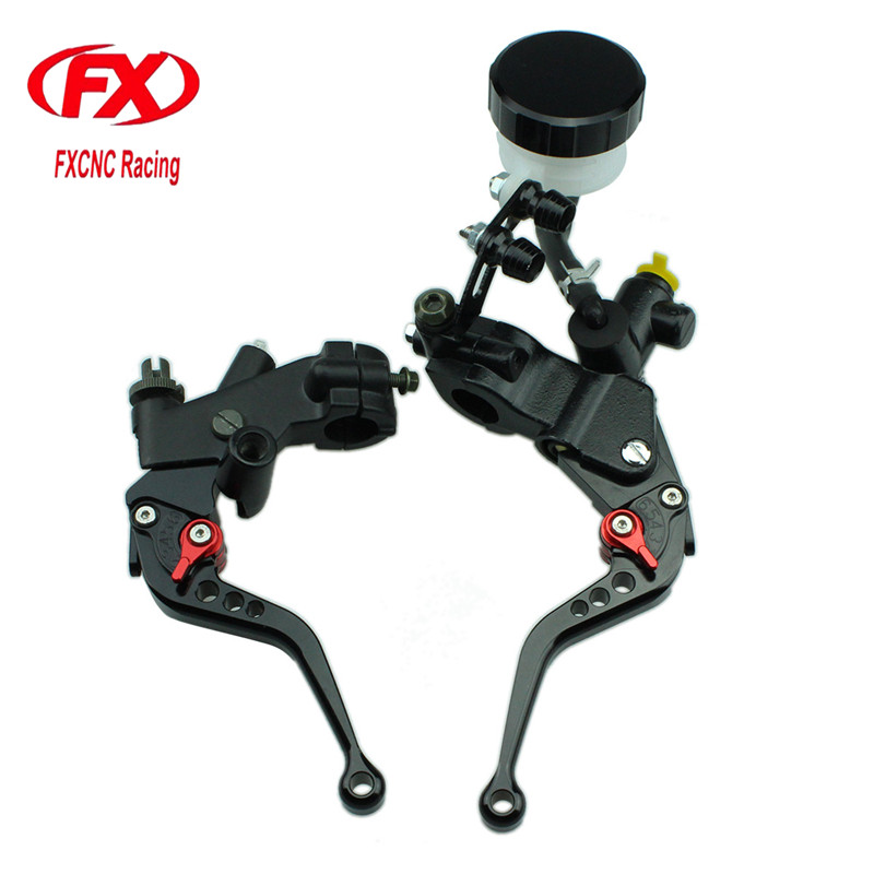 FX CNC 125-600cc Motorcycle Brake Clutch Levers Master Cylinder Hydraulic Brake Cable Clutch For APRILIA RS125 2006 - 2010 RS50 8 colors cnc motorcycle brakes clutch levers for aprilia rs 50 rs50 2000 2005 rs 125 rs125 1998 2005 accessories free shipping
