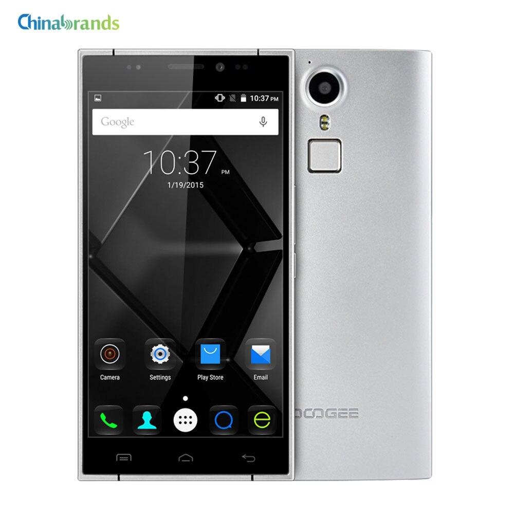 Цена за DOOGEE F5 Android 5.1 LTE 4 Г Смартфон 5.5 дюймов MTK6753 64bit 1.3 ГГц Окта основные 3 ГБ 16 ГБ 13MP Отпечатков Пальцев ID Мобильный телефон