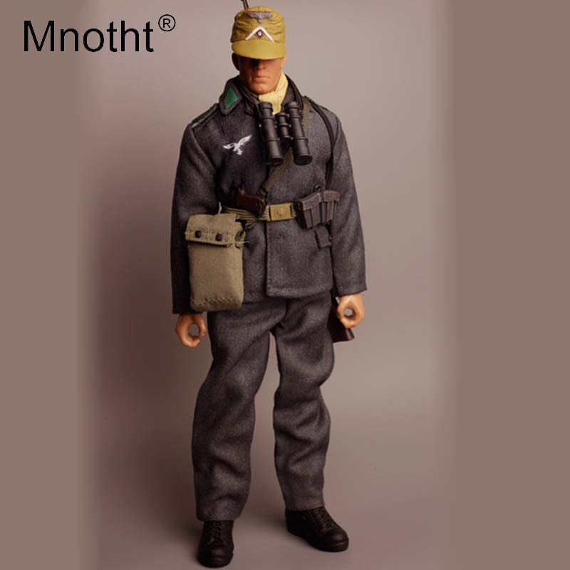 Mnotht 1/6 Scale German War Man Model WWII Soldier Toy Model Army Officers Body Clothes Collection Action Figures Toys m3 mnotht 1 6 action figure panzer third