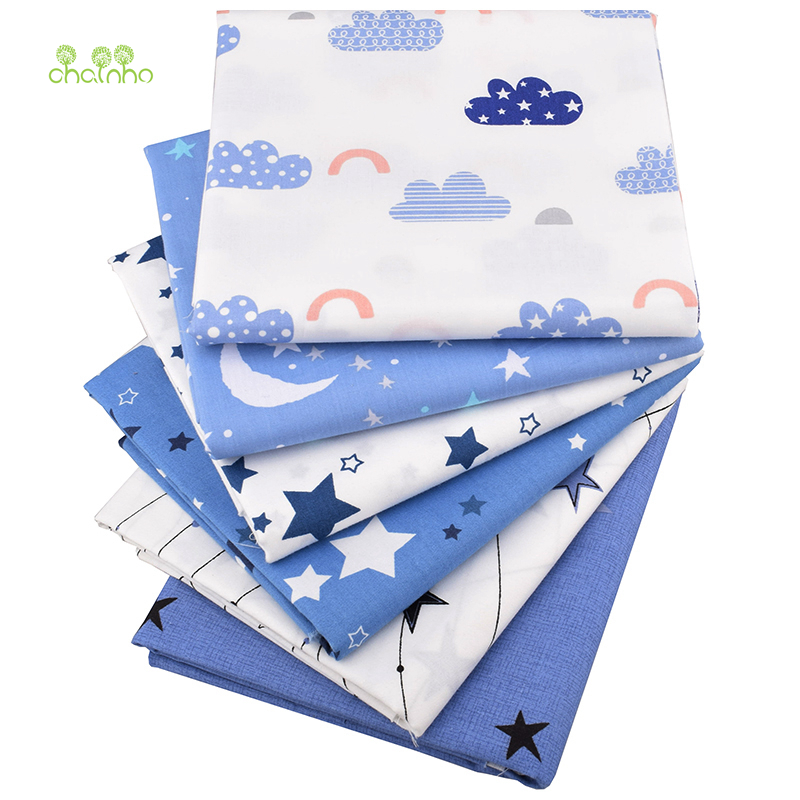 The Cheapest Price Chainho 6pcs/lot,twill Cotton Fabric,night Sky&stars Patchwork Cloth,diy Sewing Quilting Fat Quarters Material For Baby&children Arts,crafts & Sewing Home & Garden