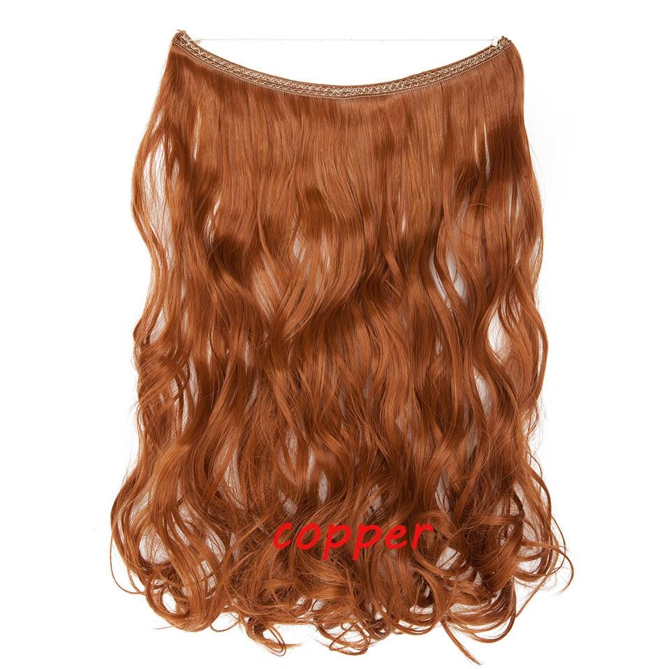 S-noilite 20 дюймов невидимый провод без заколки для волос Расширения секретная Рыбная линия шиньоны шелковистые прямые настоящие натуральные синтетические - Цвет: 130 mix 1439