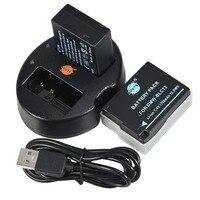 DSTE 2Pcs DMW BLC12 BLC12E BLC12 Batteries USB Dual Charger For Panasonic Lumix FZ1000 FZ200 FZ300