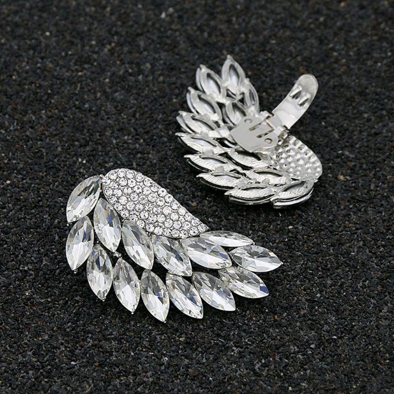 Shoe Clip Silver Wings Removable DIY Buckle Women High Heels Wedding Decoration Charm Accessories Fashion Shoe Clips