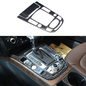 4x 100% Carbon Fiber Center Gear Shift Frame Cover Trim For Audi A4 B8 2013-2016 & A5 13-17 & Q5 13-17
