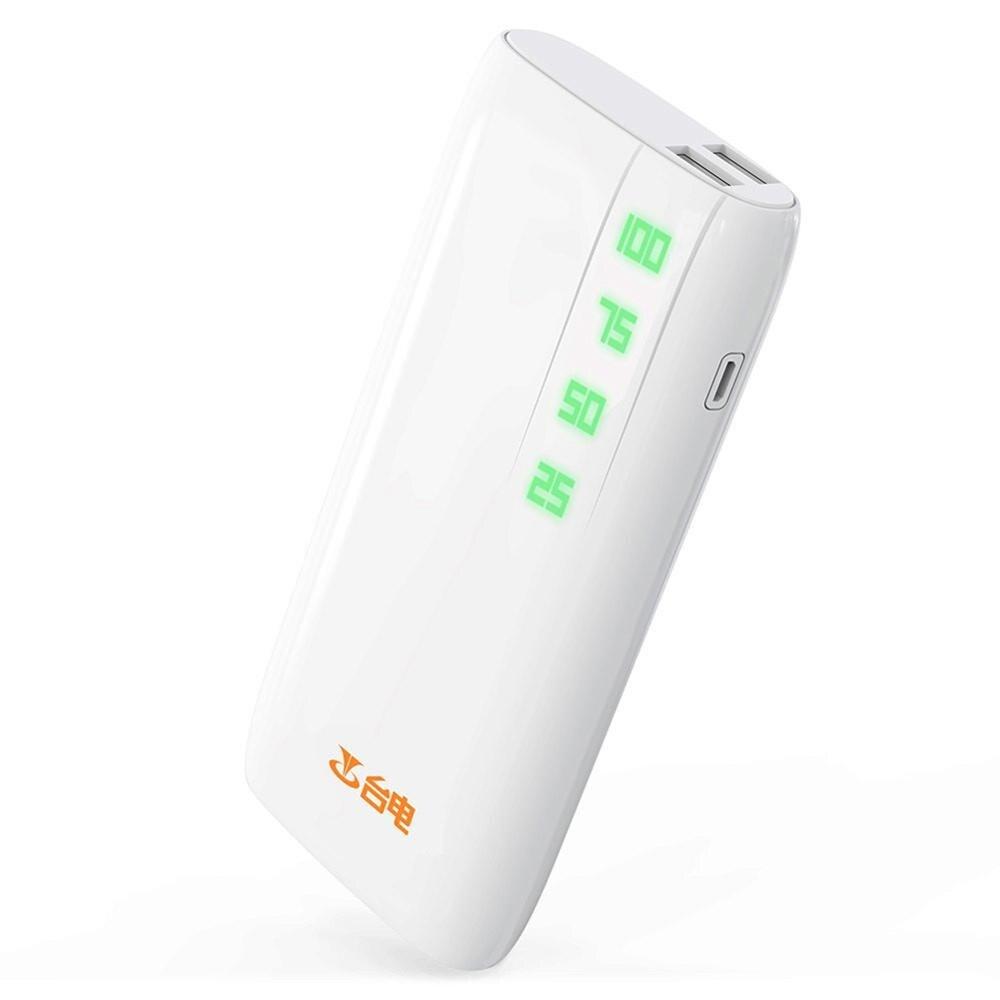 imágenes para 2 puertos usb cargador portátil 10000 mah dual usb powerbank para iphone 7 más 6 s plus ipad air mini para samsung note banco de potencia