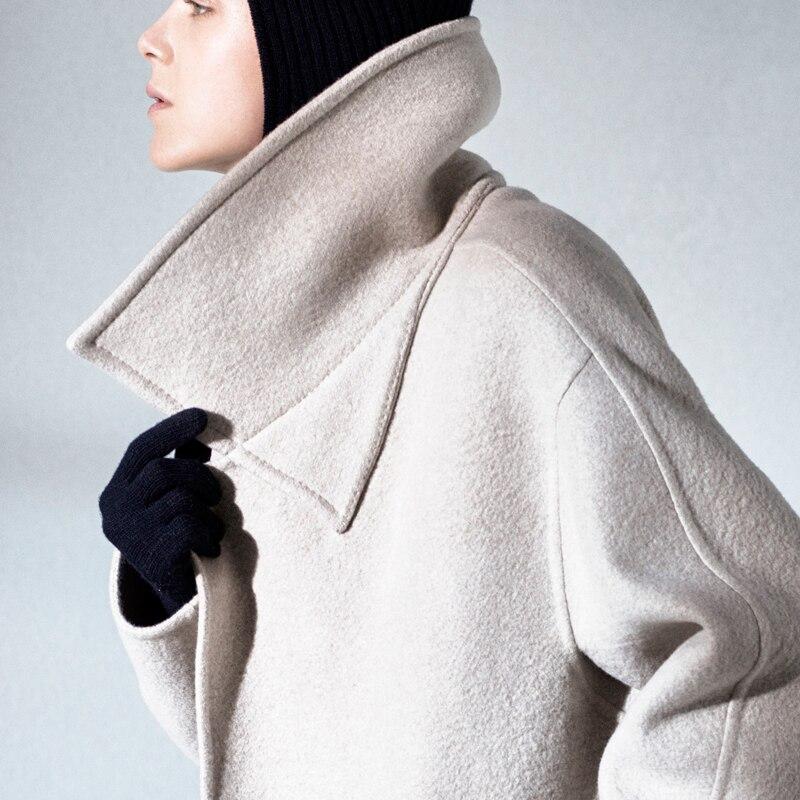 Baggy Moyen Long Laine Manteau Et Amérique Cachemire Nouveaux Manteau Automne En Europe Hiver De Style Modes Fait HITgxUqw