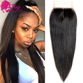 Top Quality Cambodian Straight Closure 10'' To 22''Human Hair Lace Closure Cambodian Virgin Hair Lace Closure Straight