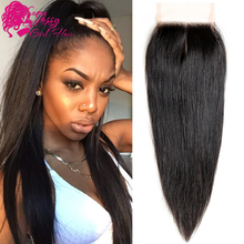 """Top Quality Cambodian Straight Closure 10"""" To 22""""Human Hair Lace Closure Cambodian Virgin Hair Lace Closure Straight"""
