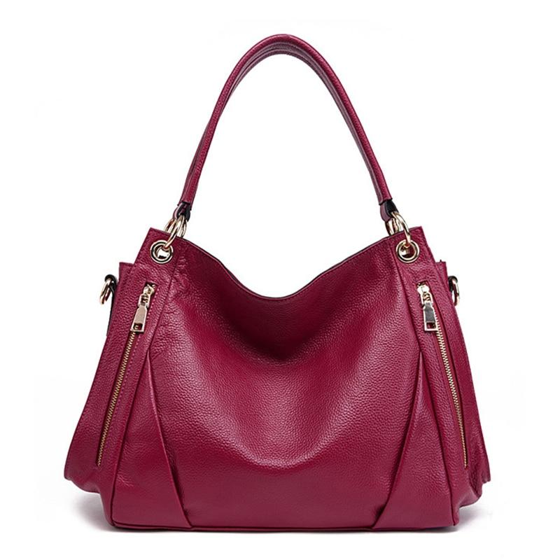 2019 Fashion Natural Cow Leather Handbag Women Shoulder bag Brand Soft Genuine Leather Tote Female Crossbody bags Messenger bag