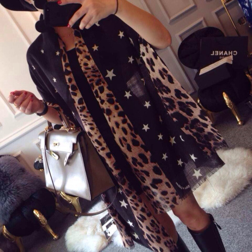 hot selling 2016 new Leopard Print shawls and scarvs