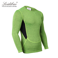 bodybuilding comfortable new style  sweat-absortion garment apparel deporte compression cationic long sleeve t shirt  .