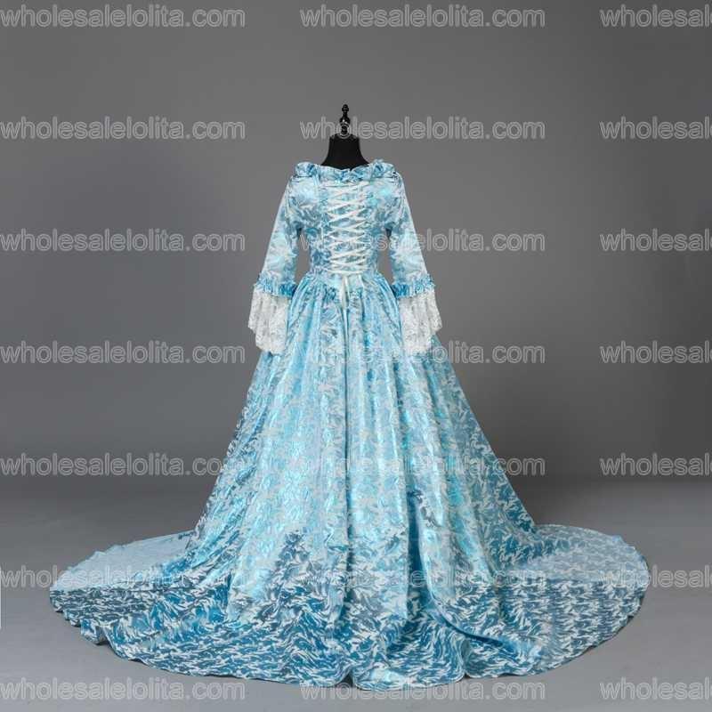 Custom Made Victorian Fancy Masquerade Klänningar Brocade Wedding - Särskilda tillfällen klänningar - Foto 5