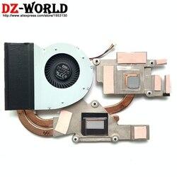 Nowy oryginalny dla Lenovo Ideapad Y510P radiator CPU chłodnica wentylator SWG dyskretne grafiki  wentylatora  90202747 AT0SF001VV0 w Wentylatory i chłodzenie od Komputer i biuro na