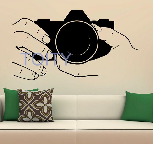 Camera Vinyl Wall Decal Snapshot Art Decor Photo Studio Sticker Home ...