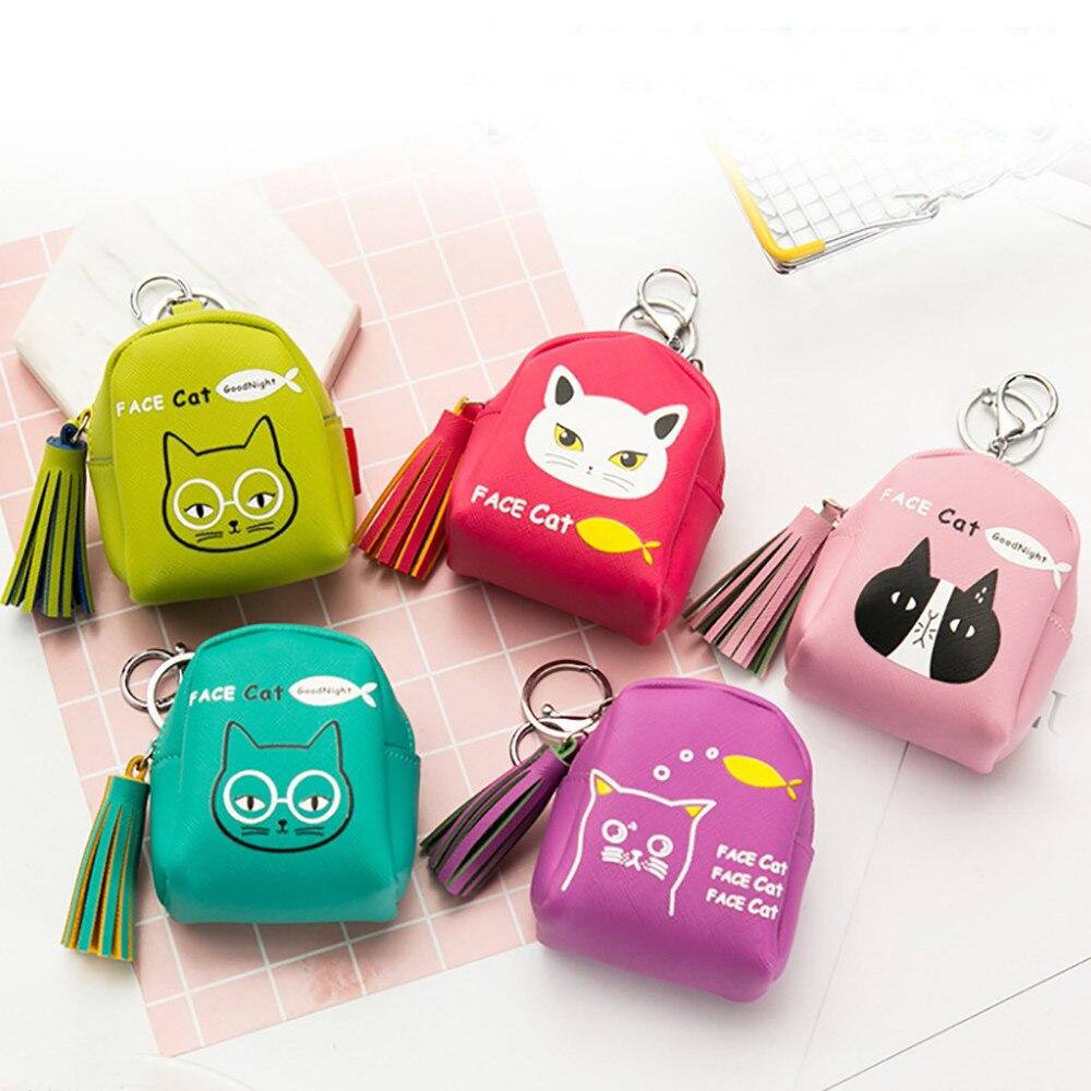 Fashion Hot Women Girl tassel cat Flannel Retro Small Wallet Hasp Purse Clutch Coin Top Quality Money Bag A#