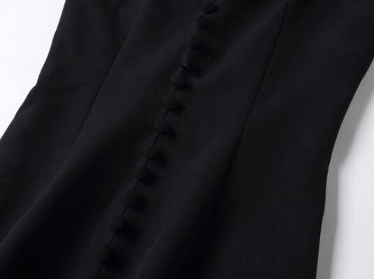 Élégant Formelle longueur D'été Vintage Noir Unique Hors Nouvelles Étage Taille 2018 épaule Robe Split Haute De Femmes la cou V Poitrine IHqBCnw