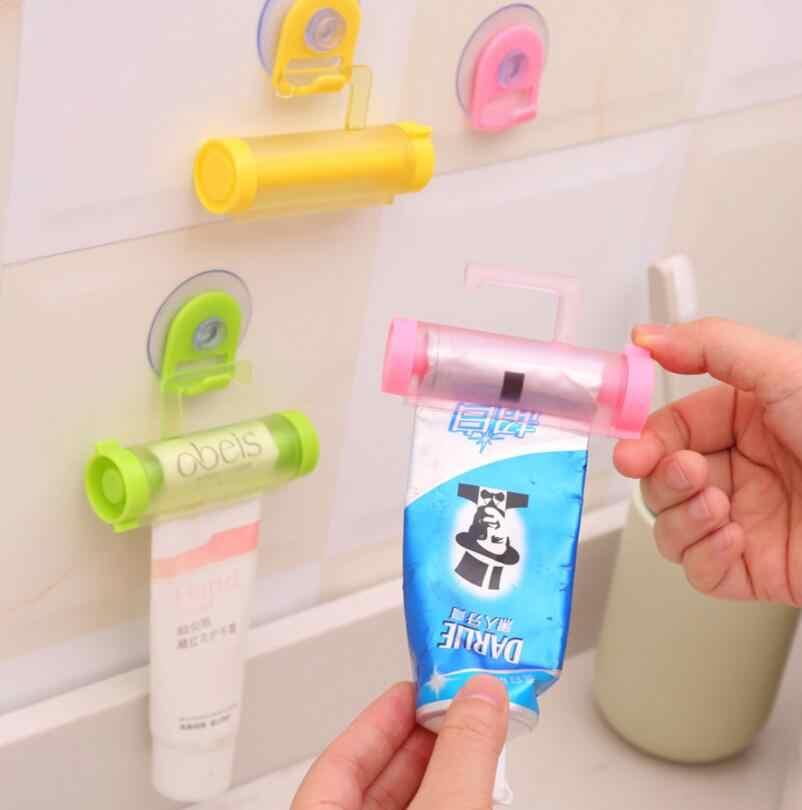 1 sztuk Rolling dozownik pasty do zębów Tube Partner Sucker wiszące uchwyt kolor losowo materiały łazienkowe