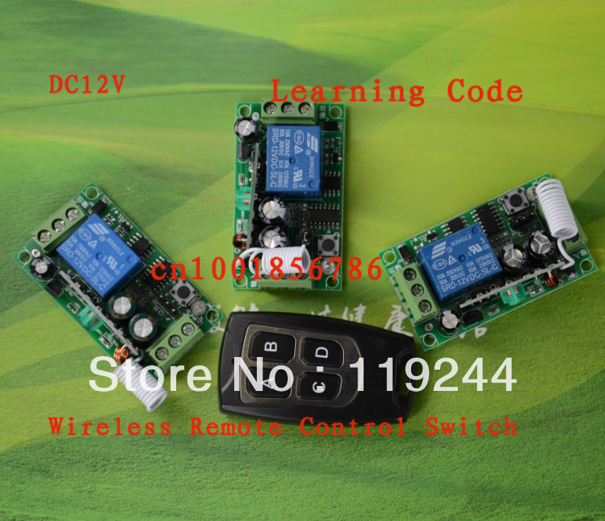 Free shipping DC12V10A 1CH radio transmitter 3 Receiver And 1 Transmitter Wireless Remote Control Power System Learning code niorfnio portable 0 6w fm transmitter mp3 broadcast radio transmitter for car meeting tour guide y4409b