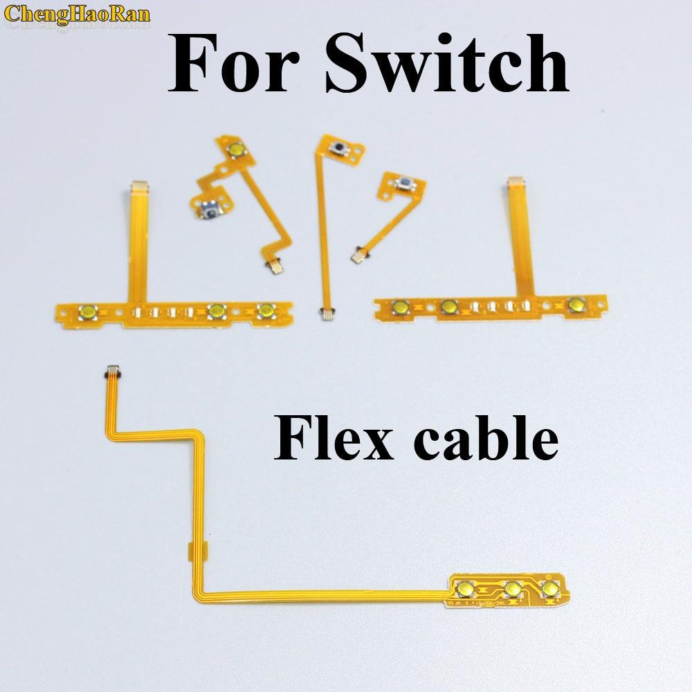 ChengHaoRan 1pcs ZL ZR L SL SR Button Ribbon Flex Cable Replacement For Nintendo NS Switch For Joy-Con Controller Repair Parts