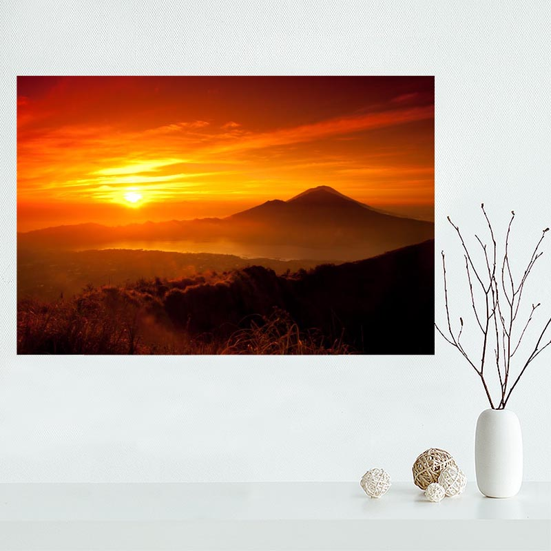 Nice Custom Beautiful Sunset Scenery Sea Sky 02 Canvas Poster Print