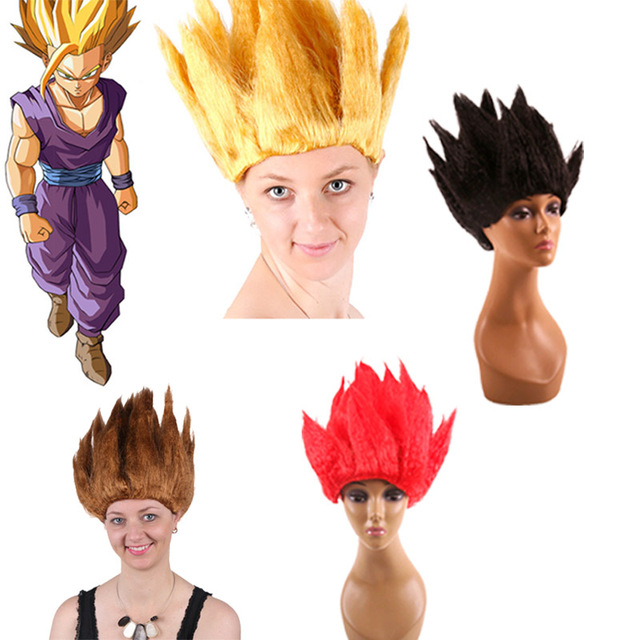 Super Saiyan Wig Dragon Ball Son Goku Cosplay Wig Halloween Carnival Wig  Yellow Red Black Brown 202def9e0b