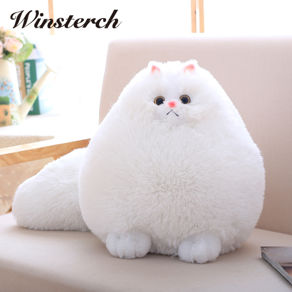 Fun Plush Fluffy Cats Persian Cat Toys Pembroke Pillow Soft Stuffed Animal Peluches Dolls Baby Kids Toys Gifts Brinquedos WW108 lps pet shop toys rare black little cat blue eyes animal models patrulla canina action figures kids toys gift cat free shipping