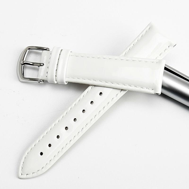 MAIKES uus disain 12mm 14mm 16mm 18mm 20mm valge pehme kellarihm - Kellade tarvikud - Foto 3