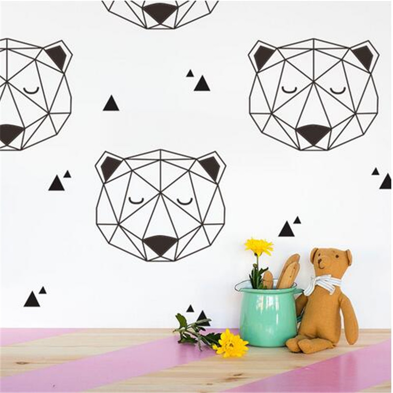 Wall Stickers Home Decor Polar Bear Special Effect Wallpaper Decal For Kids Room Living Bedroom Decoration Sticker
