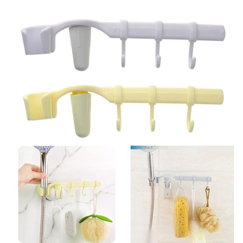 Multi Purpose Rack Hooks with 3 Hooks Hanging Holder for Bathroom Kitchen Vacuum Suction Hook Up