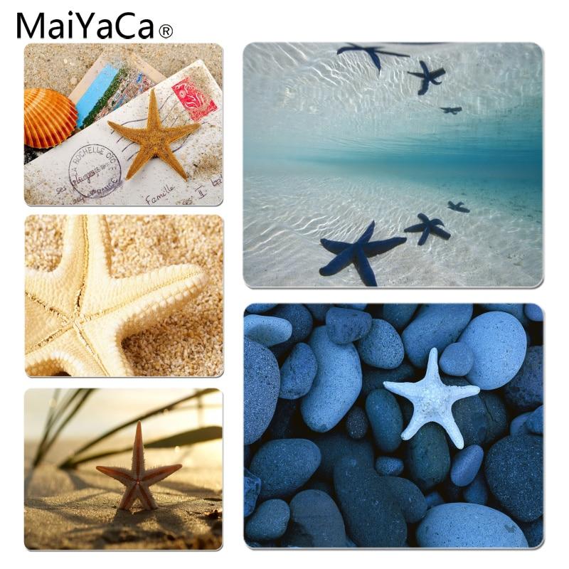 MaiYaCa Deep sea starfish Large Mouse pad PC Computer mat Size for 18x22x0.2cm Gaming Mousepads