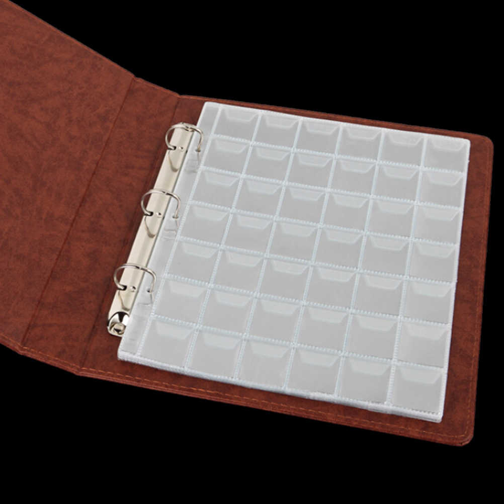 42 Pockets Plastic Coin Holders Storage Collection Money Album Case Portable New
