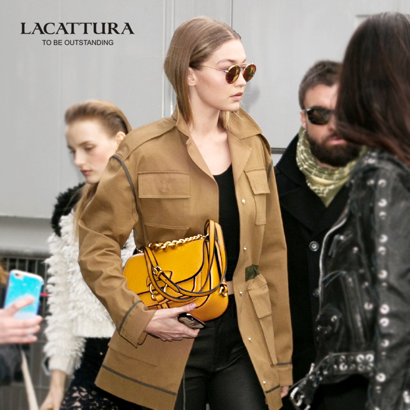A1336 Dahlia Vintage Small Chain Ladies Cowhide Genuine font b Leather b font font b Handbags