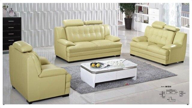 Iexcellent diseño moderno de cuero genuino sofá seccional, sofá ...