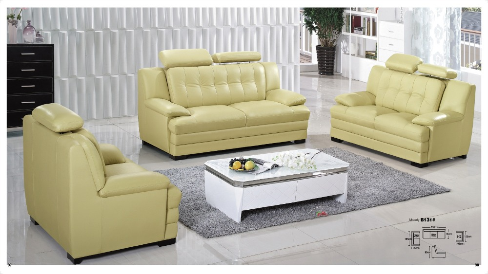 Iexcellent modern design genuine leather sectional sofa sofa set living room furniture leather - Two sofa living room design ...