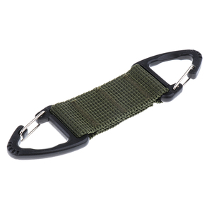 Image 5 - Climbing Accessories Webbing Double Ended Triangular Carabiner Clip Outdoor Hiking High Strength Nylon Spring Snap Hook 3Colors