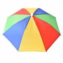 5df8b1d4840f7 3 Types Adjustable Headband Wearing Umbrella Caps Multicolor Outdoor Sport Fishing  Foldable Nylon Umbrella Hat Cap 21 inch 1PC